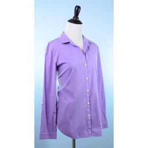 LAFAYETTE 148 lavender top Fits Medium